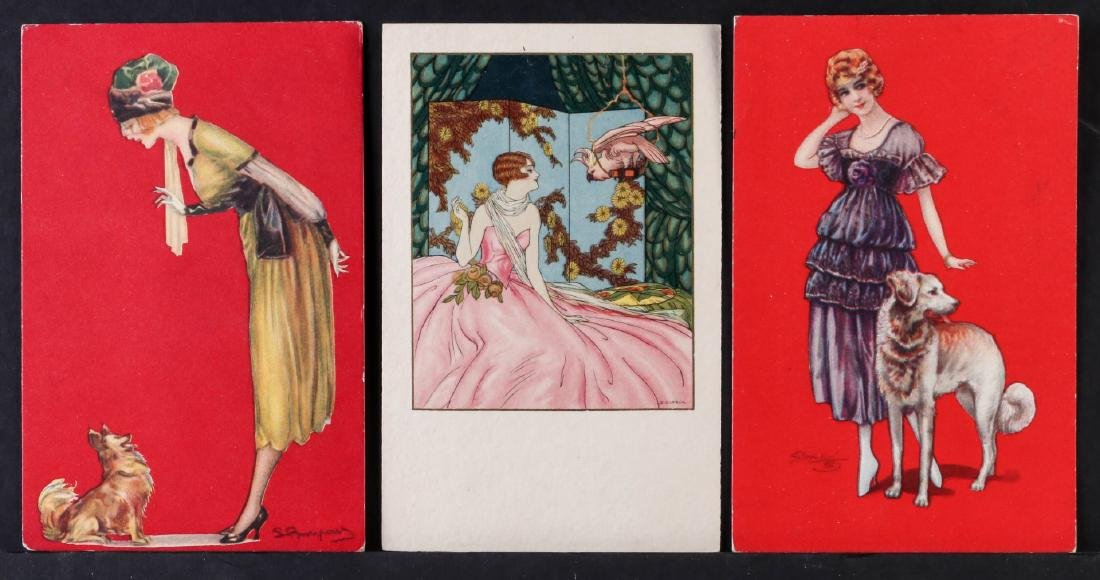 TWENTY-FIVE ARTIST SIGNED IN PLATE GLAMOUR POSTCARDS