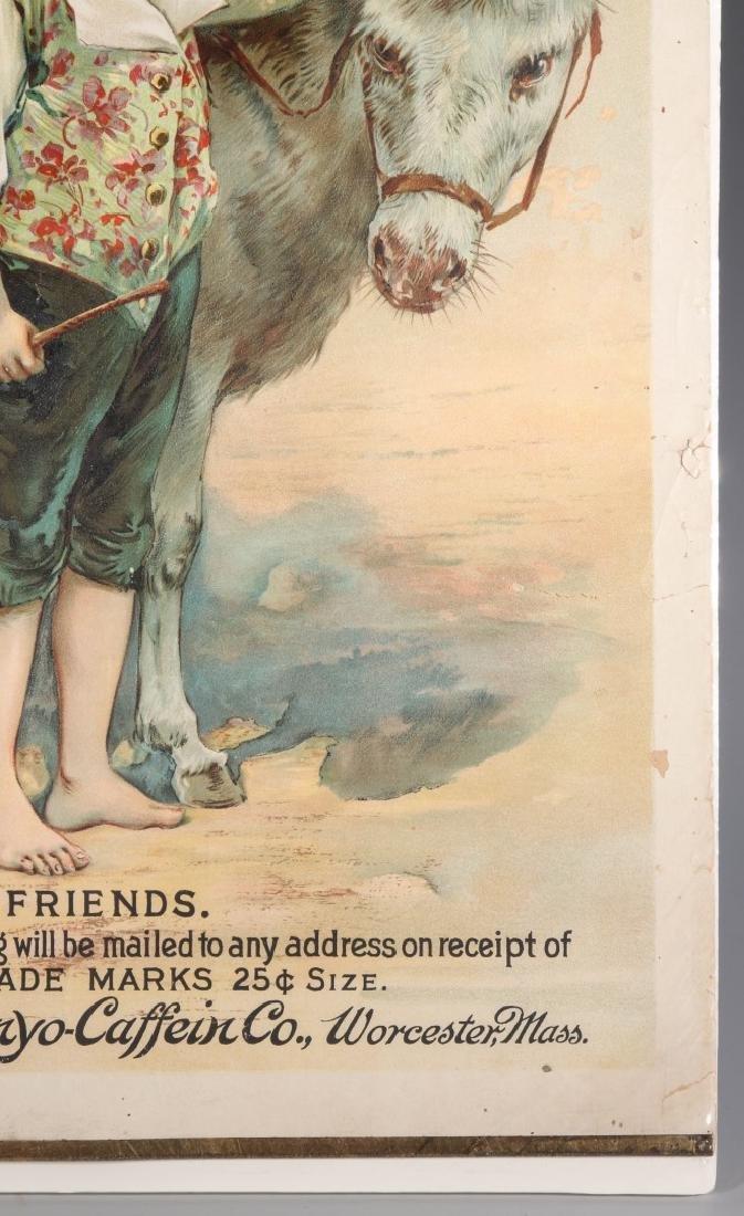 A RARE CIRCA 1880 PHENYO-CAFFEIN QUACK MEDS POSTER - 5