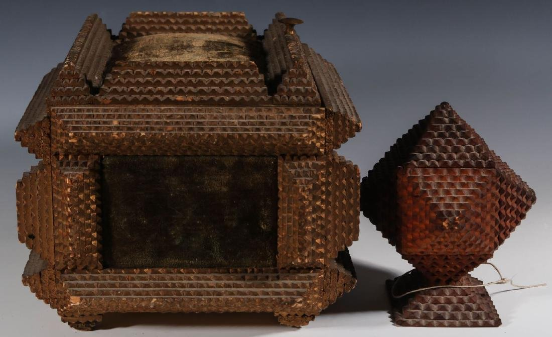 TWO EARLY 20TH CENTURY TRAMP ART BOXES - 4