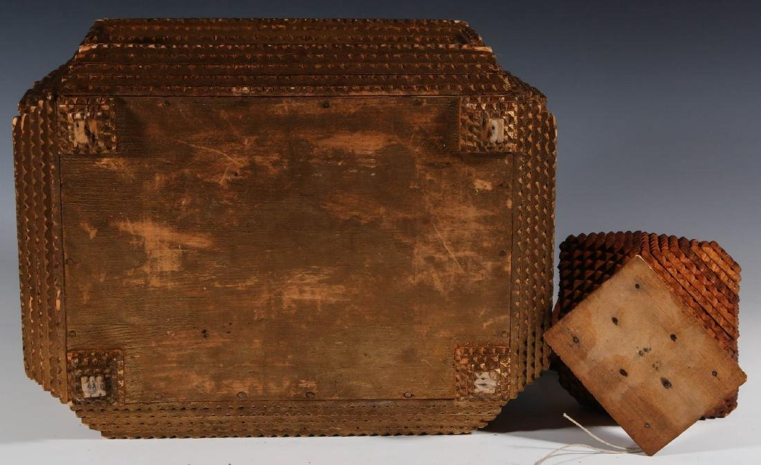TWO EARLY 20TH CENTURY TRAMP ART BOXES - 6