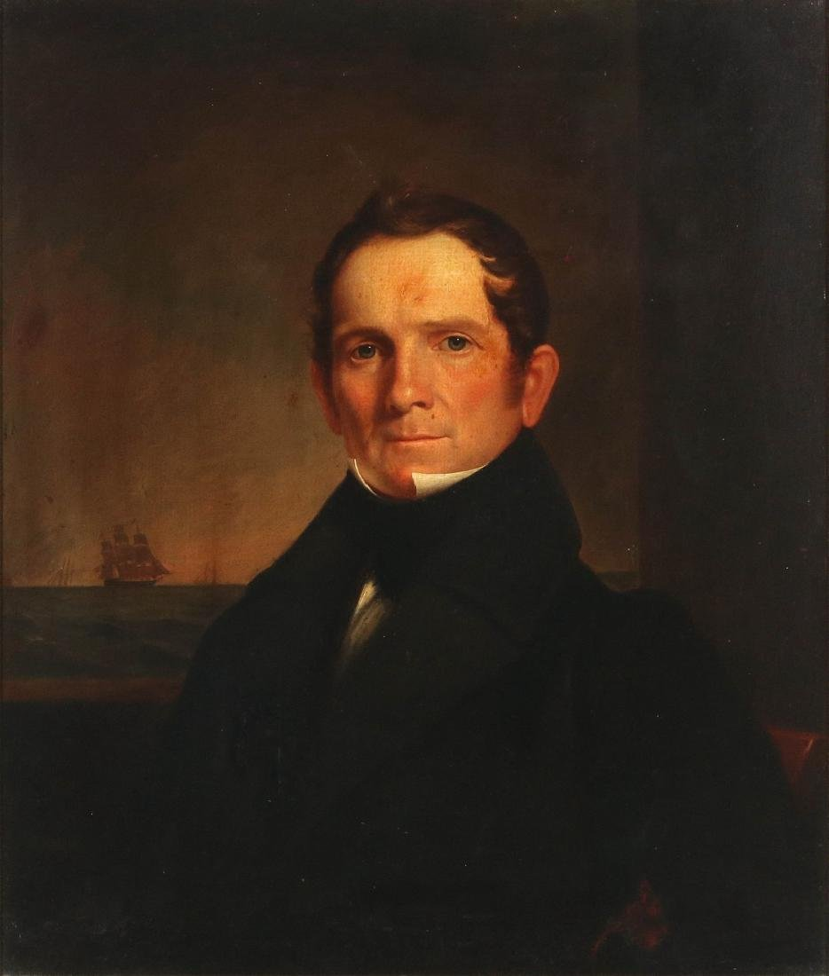 A GOOD 19TH C. AMERICAN SEA CAPTAIN O/C PORTRAIT