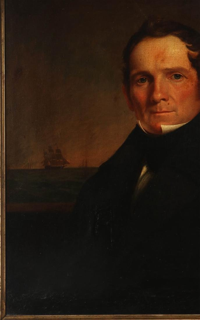 A GOOD 19TH C. AMERICAN SEA CAPTAIN O/C PORTRAIT - 6