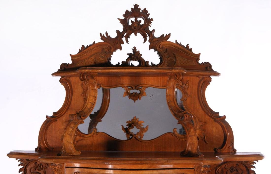 A LATE 19TH C. FRENCH ROCOCO ETAGERE WITH VITRINE - 2