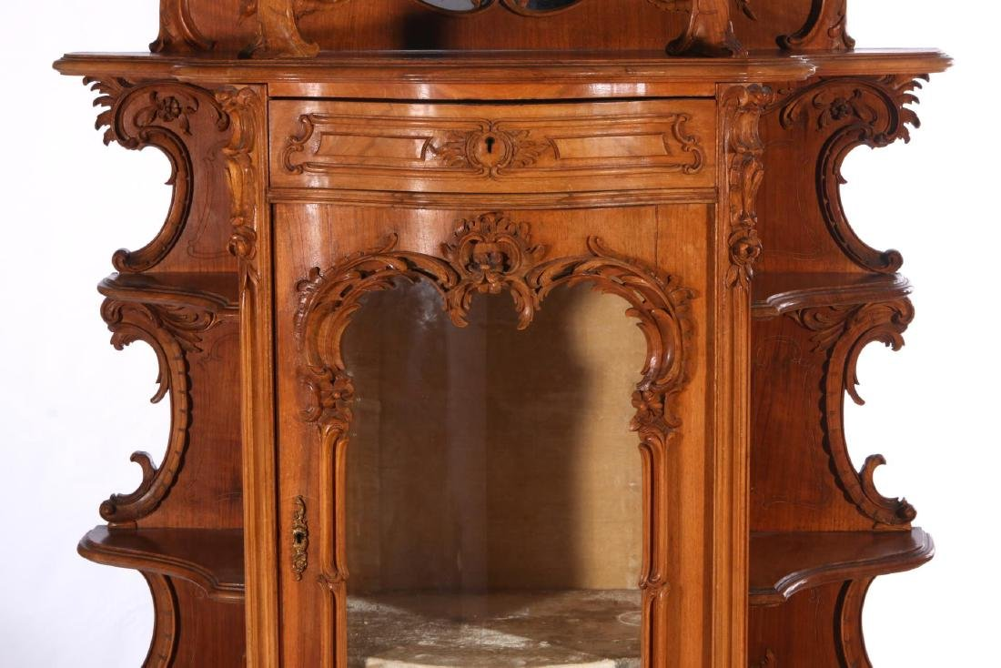 A LATE 19TH C. FRENCH ROCOCO ETAGERE WITH VITRINE - 3