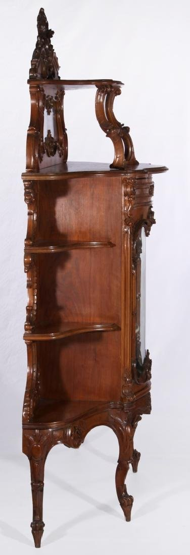 A LATE 19TH C. FRENCH ROCOCO ETAGERE WITH VITRINE - 7