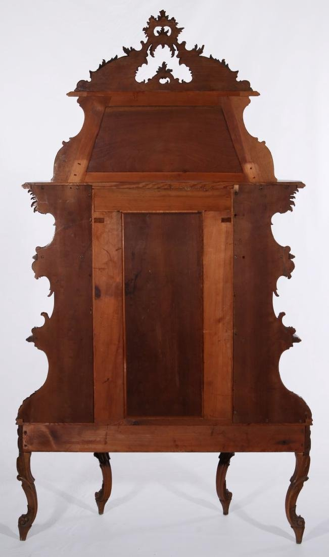 A LATE 19TH C. FRENCH ROCOCO ETAGERE WITH VITRINE - 8