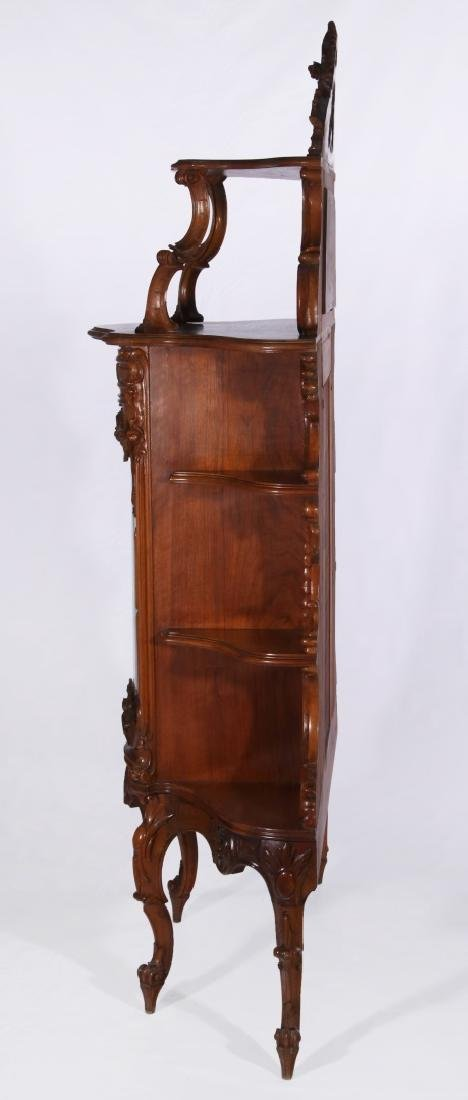 A LATE 19TH C. FRENCH ROCOCO ETAGERE WITH VITRINE - 9
