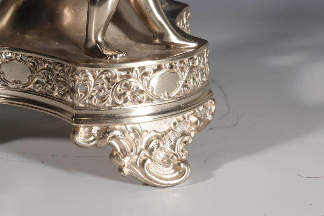 AN EXCEPTIONAL VICTORIAN BRIDE'S BOWL ON CHERUB STAND - 4