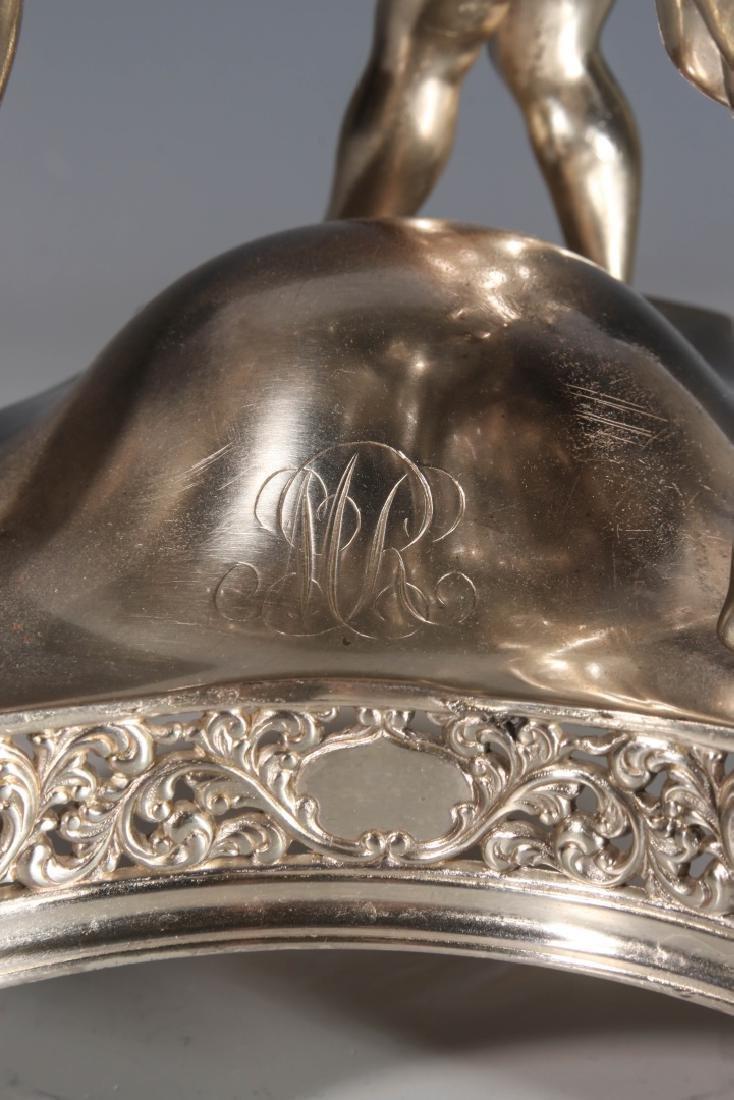 AN EXCEPTIONAL VICTORIAN BRIDE'S BOWL ON CHERUB STAND - 6