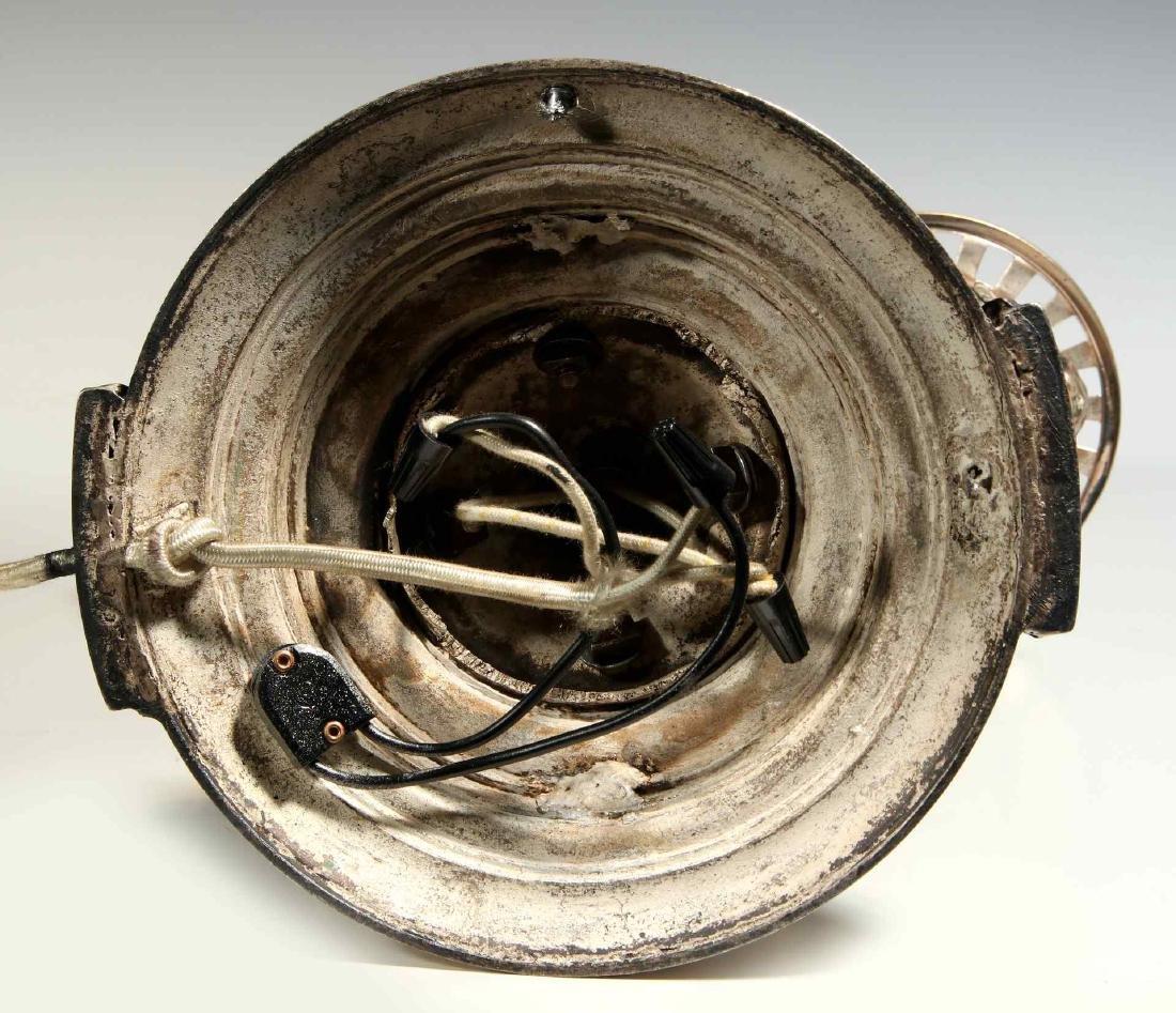 A CIRCA 1900 SILVERED GRIFFIN HARVARD LAMP - 10