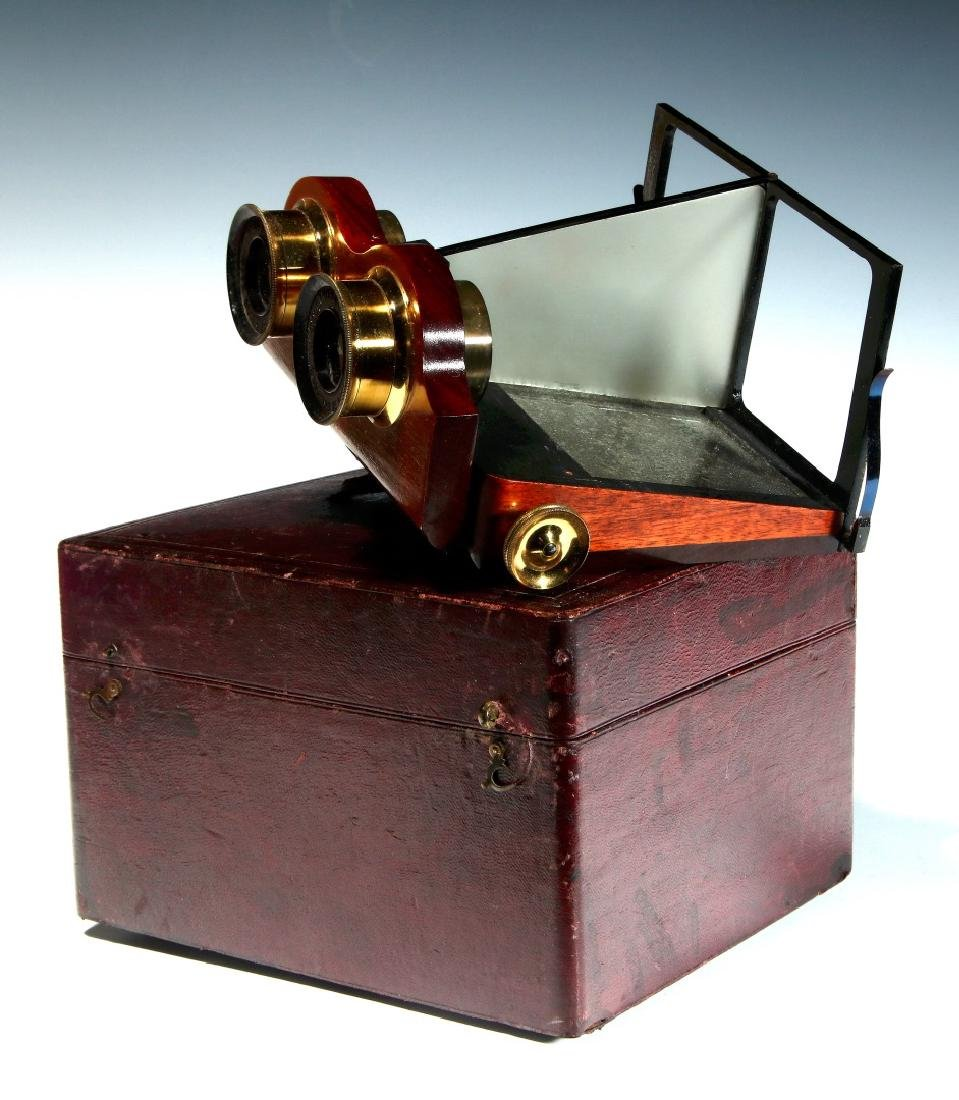 A CIRCA 1859 SMITH BECK MIRROR STEREOSCOPE NO. 1772