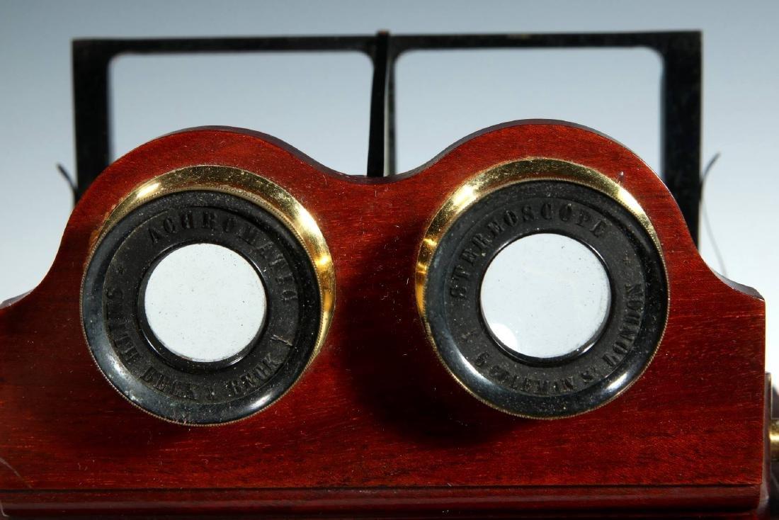 A CIRCA 1859 SMITH BECK MIRROR STEREOSCOPE NO. 1772 - 3