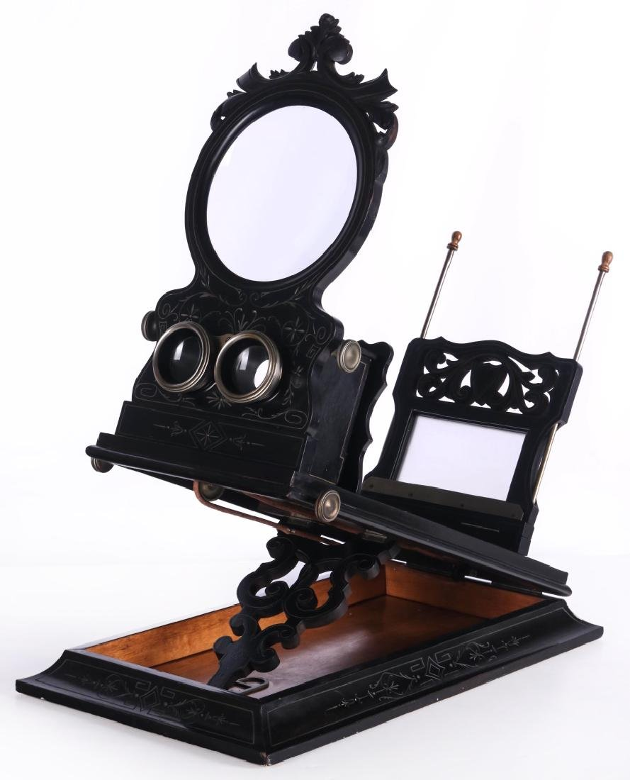 A 19TH CENTURY FRENCH FOLDING STEREO GRAPHOSCOPE
