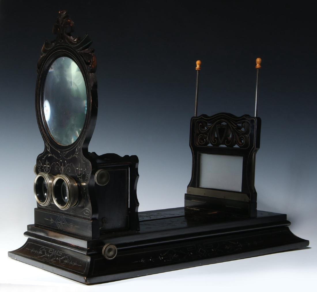 A 19TH CENTURY FRENCH FOLDING STEREO GRAPHOSCOPE - 2