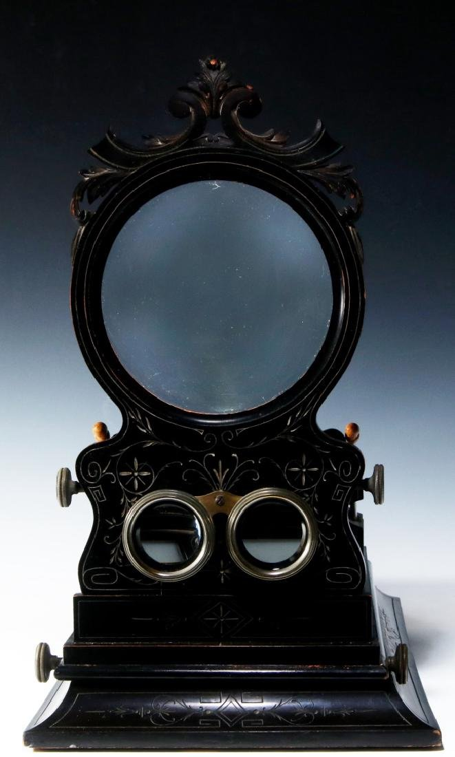 A 19TH CENTURY FRENCH FOLDING STEREO GRAPHOSCOPE - 7