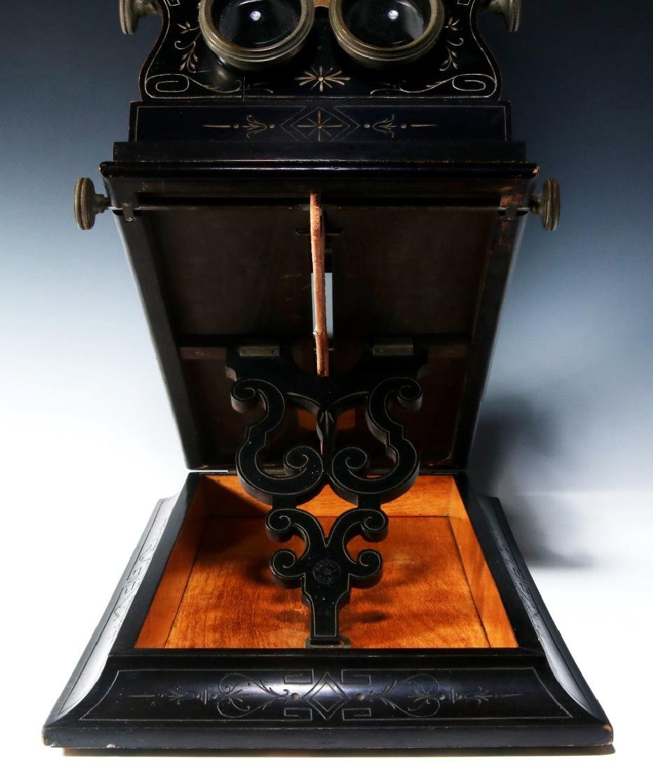 A 19TH CENTURY FRENCH FOLDING STEREO GRAPHOSCOPE - 9