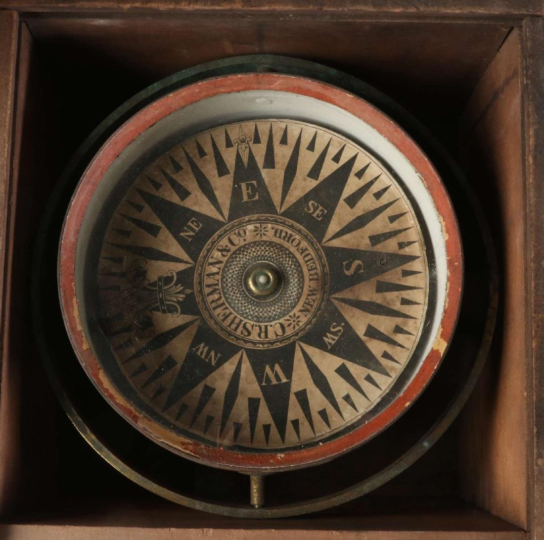 A DRY CARD SHIP COMPASS BY C.R. SHERMAN - 2