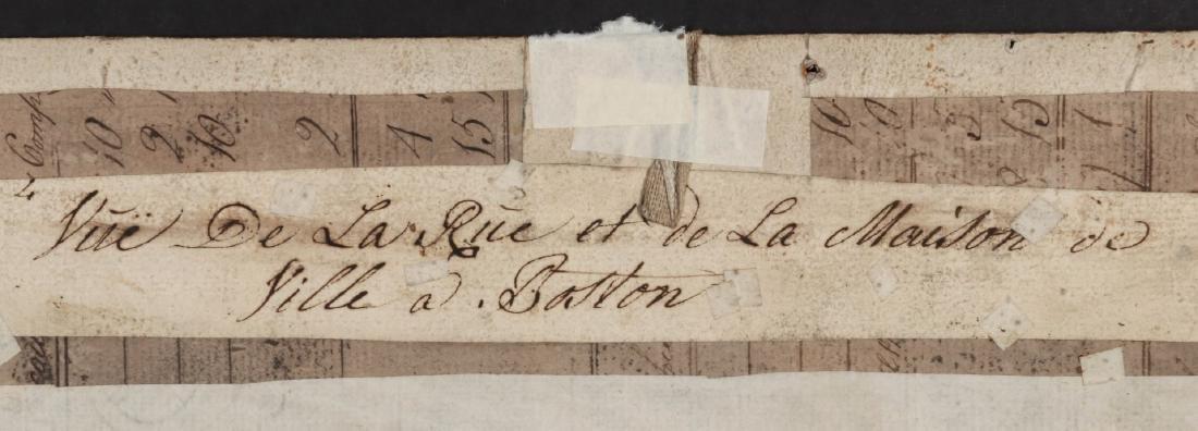 AN 18TH C VUE D'OPTIQUE CUT ENGRAVING OF BOSTON - 10