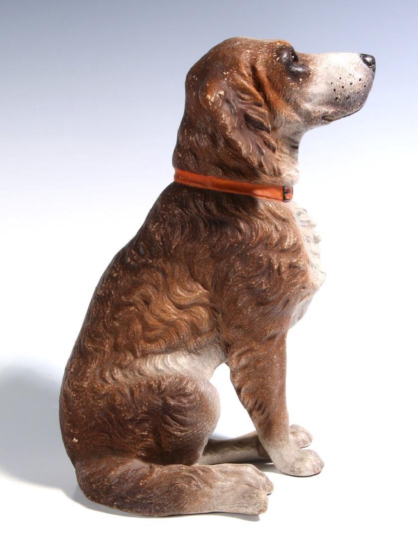 AN EXCEPTIONAL AUSTRIAN TERRA COTTA DOG C. 1900 - 5
