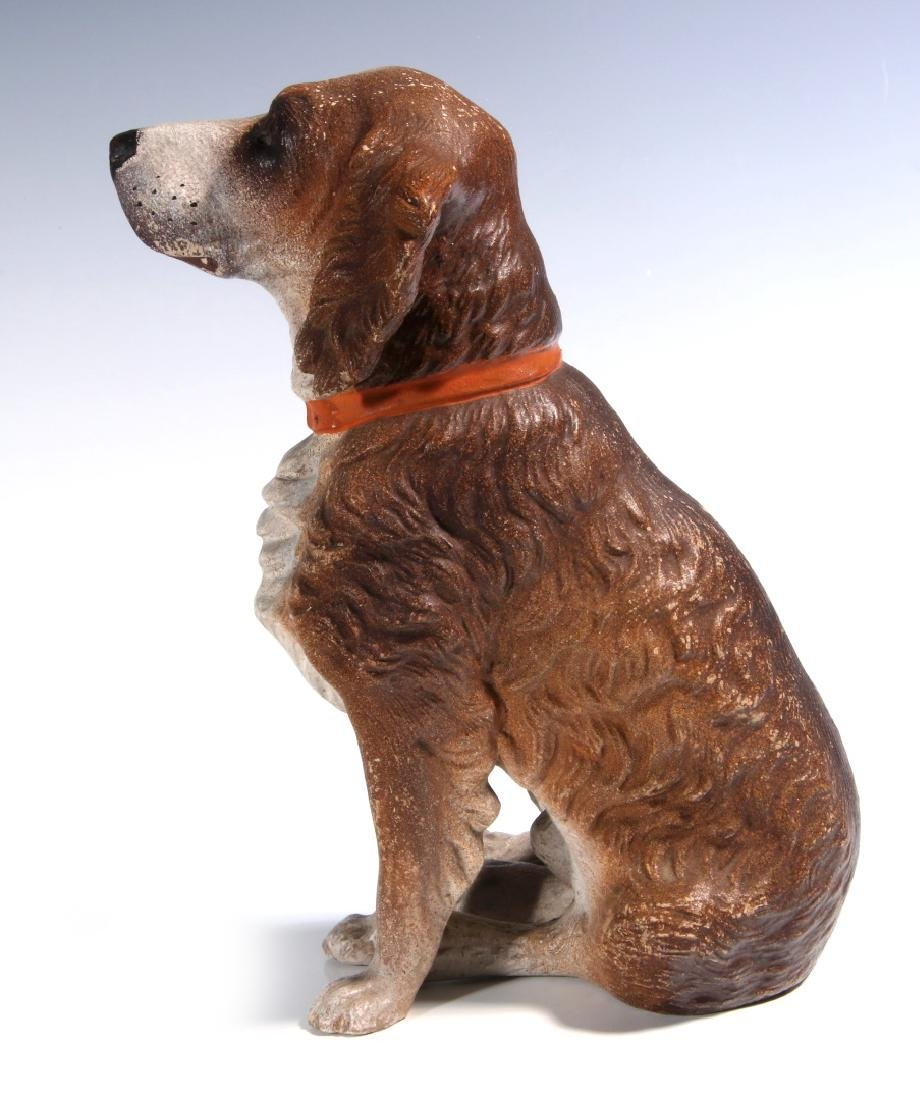 AN EXCEPTIONAL AUSTRIAN TERRA COTTA DOG C. 1900 - 7
