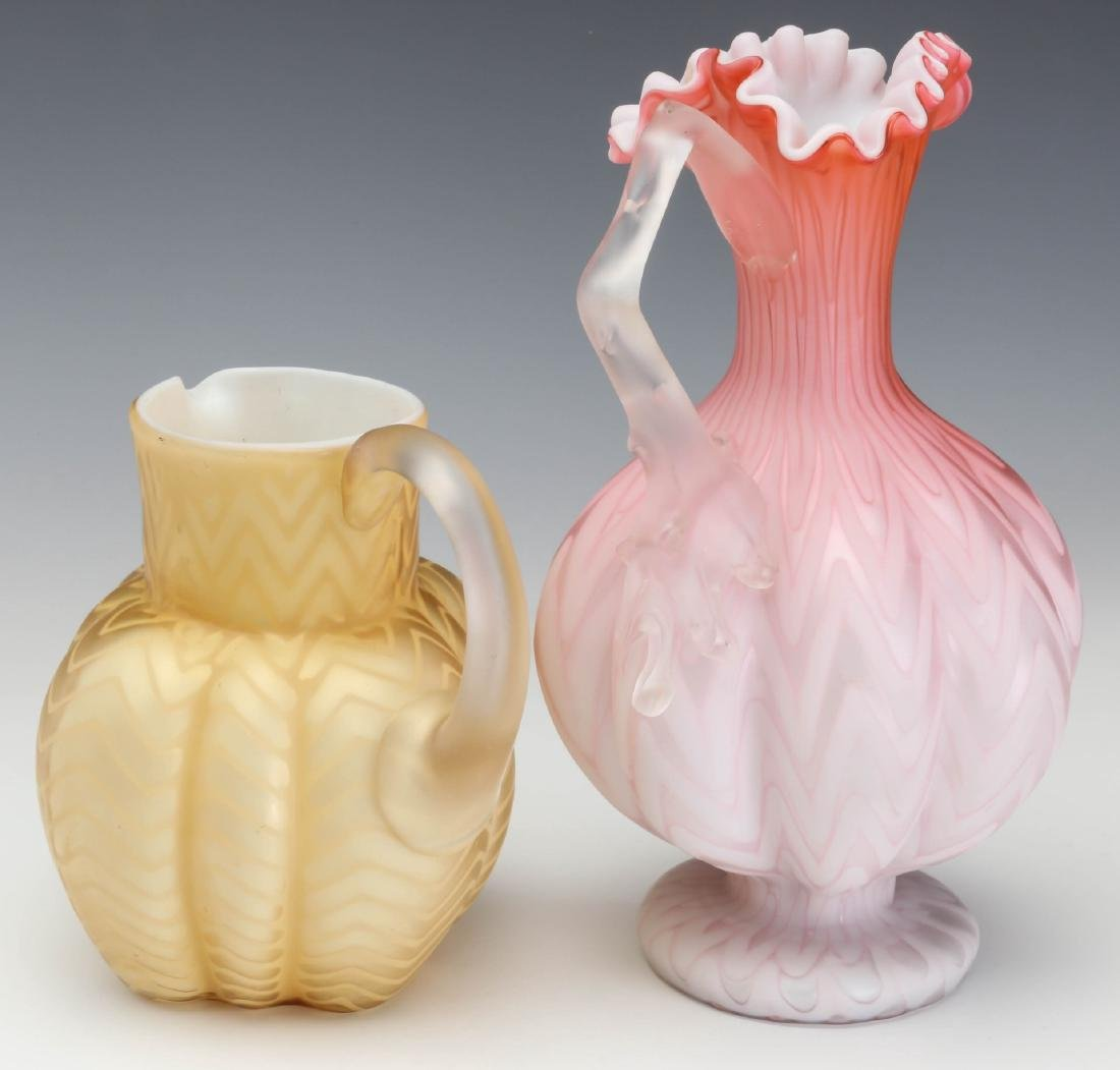 TWO UNUSUAL 19TH C. MOTHER OF PEARL GLASS WORKS - 6