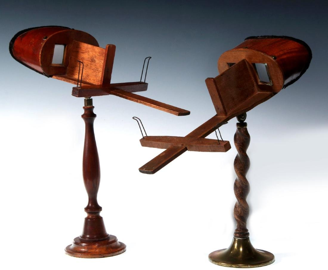 TWO 19TH CENTURY TABLE-TOP MODEL STEREOSCOPES