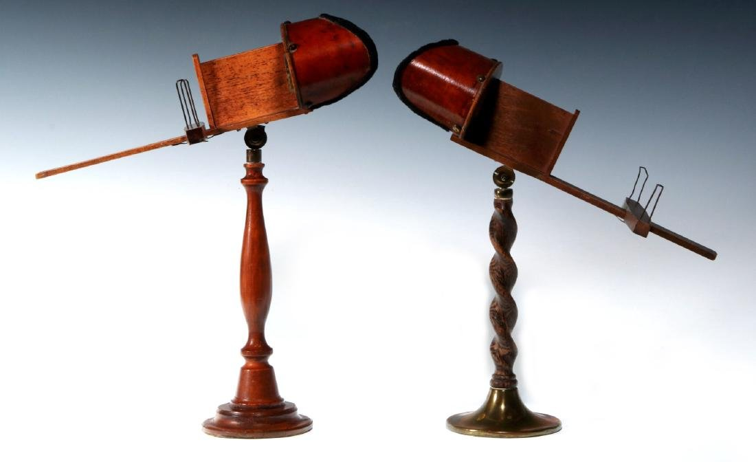 TWO 19TH CENTURY TABLE-TOP MODEL STEREOSCOPES - 4