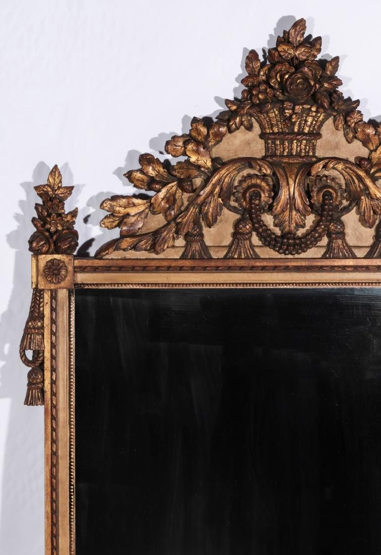 A GOOD 19TH CENTURY FRENCH MIRROR - 2