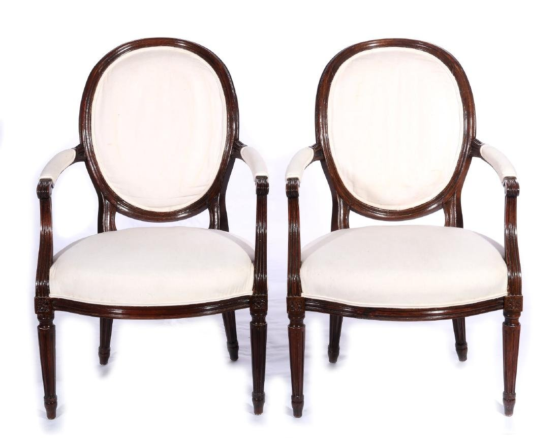 THREE EARLY 20TH C. FRENCH ARM AND SIDE CHAIRS - 2
