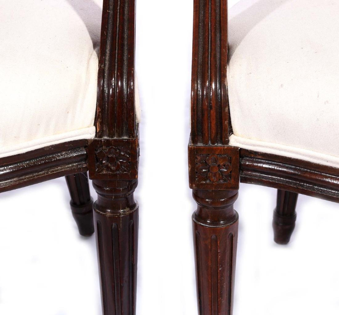 THREE EARLY 20TH C. FRENCH ARM AND SIDE CHAIRS - 4