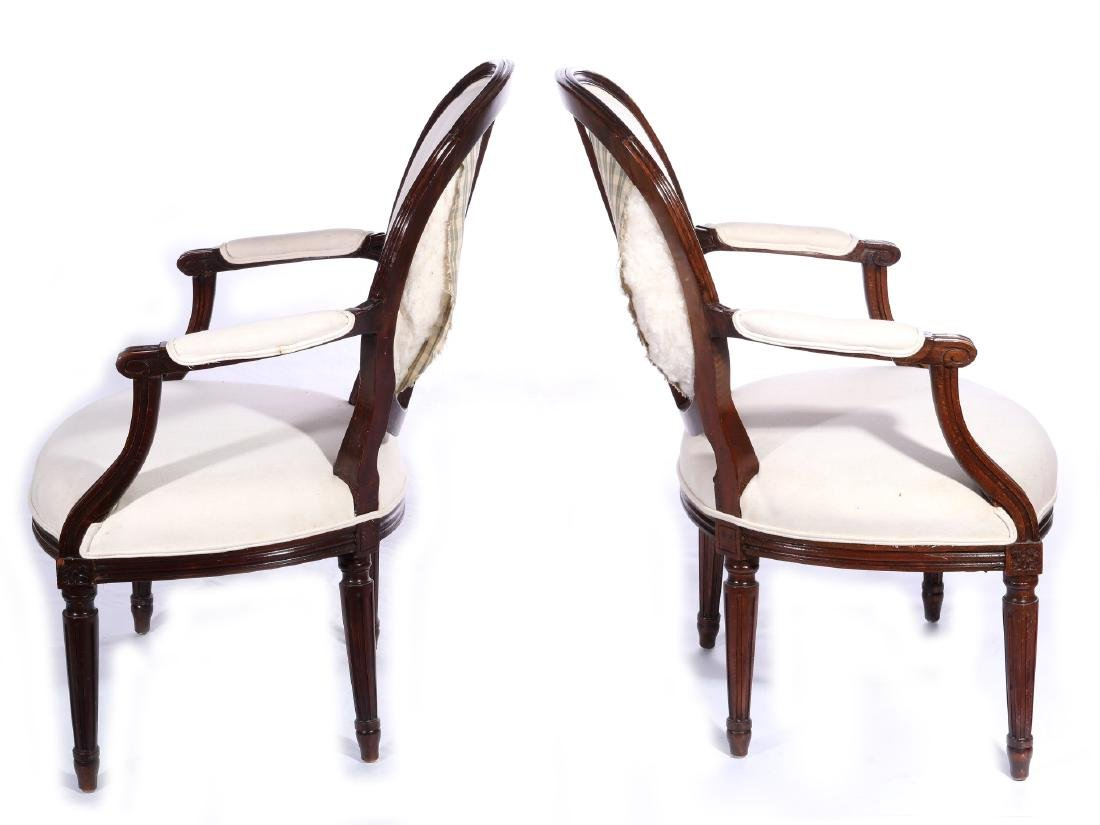 THREE EARLY 20TH C. FRENCH ARM AND SIDE CHAIRS - 5