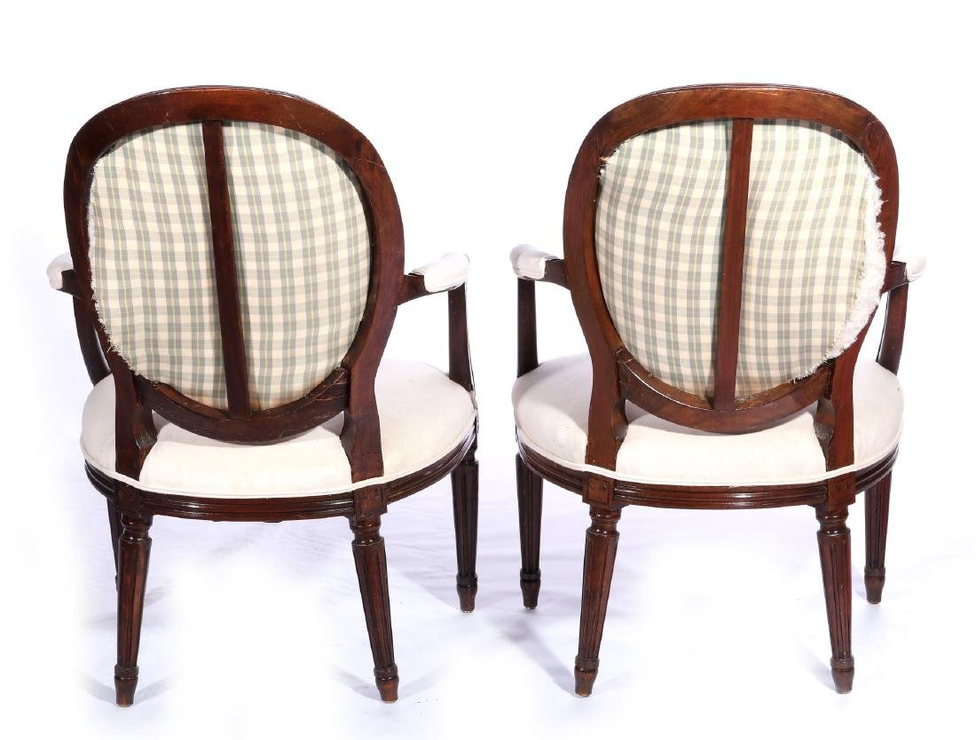 THREE EARLY 20TH C. FRENCH ARM AND SIDE CHAIRS - 6