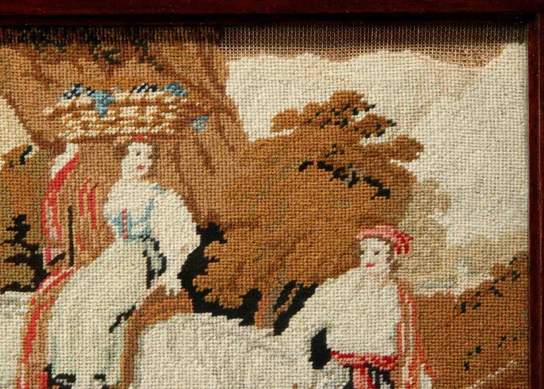 A 19TH CENTURY NEEDLEPOINT TABLE SCREEN - 5