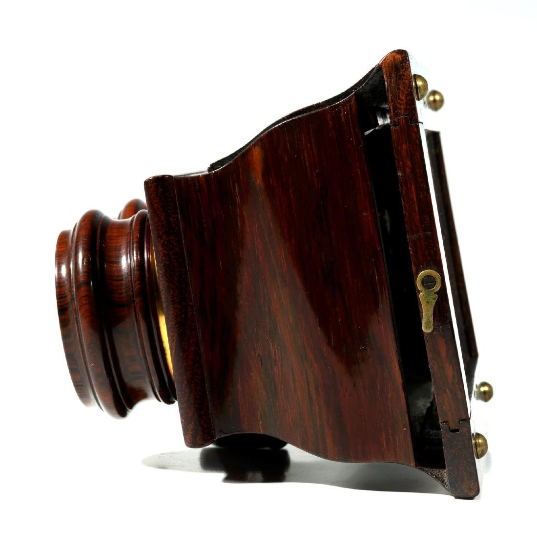 A FINE 19TH CENTURY BREWSTER STYLE STEREOSCOPE - 3