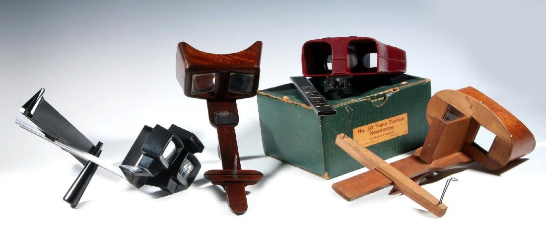 FOUR EARLY 20TH CENTURY STEREOSCOPES
