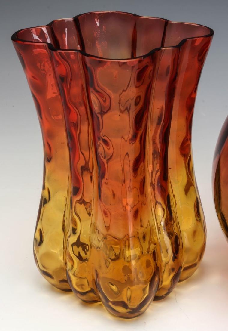 TWO 19TH CENTURY AMBERINA ART GLASS ARTICLES - 3