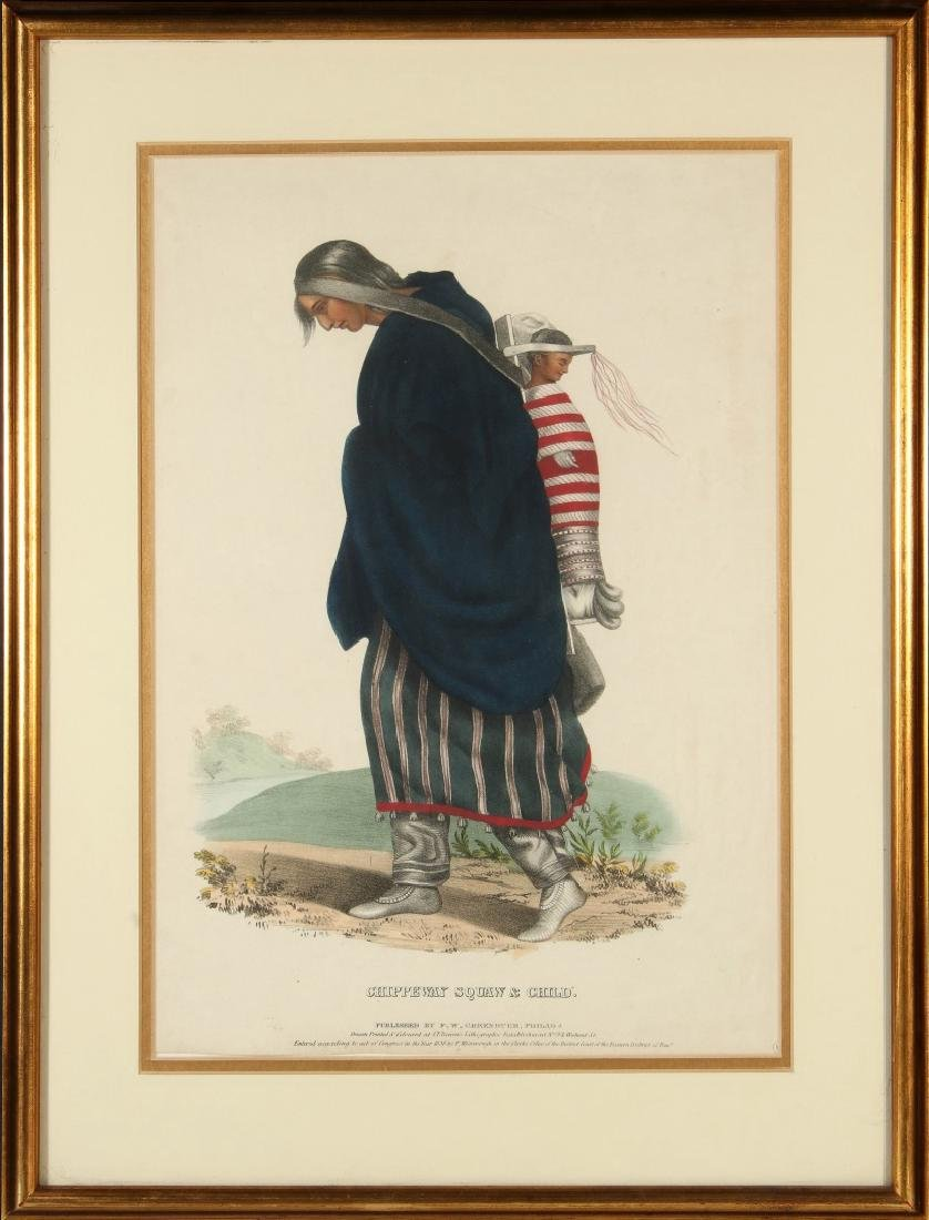 MCKENNEY HALL 'CHIPPEWAY SQUAW' HAND COLORED LITHO - 2
