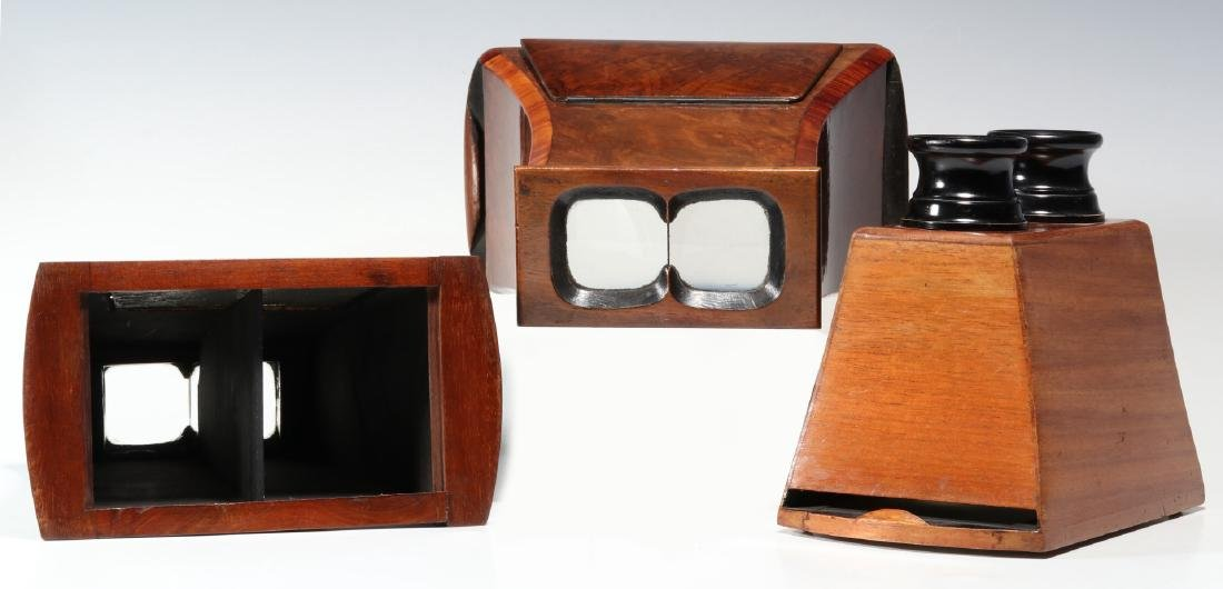 THREE 19TH CENTURY BREWSTER TYPE STEREOSCOPES