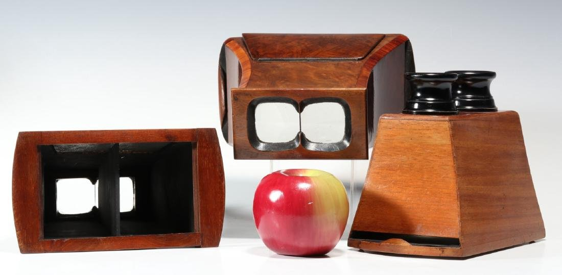 THREE 19TH CENTURY BREWSTER TYPE STEREOSCOPES - 2