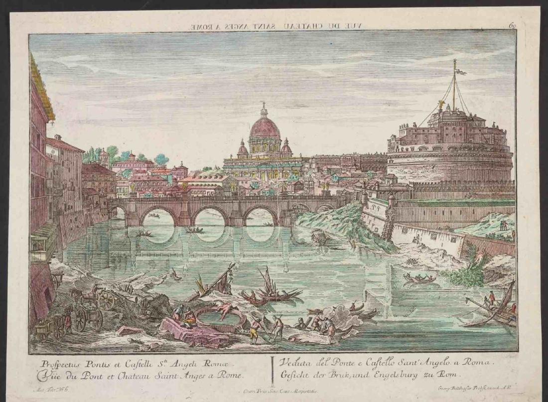 18TH C. VUE D'OPTIQUE ENGRAVINGS OF ROME AND VENICE - 6