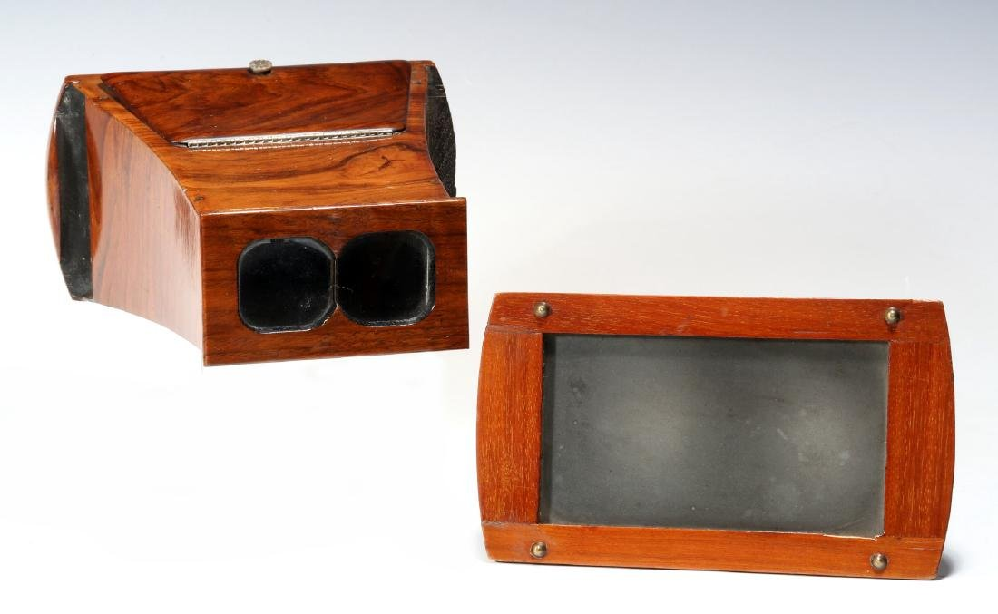 TWO GOOD 19TH CENTURY BREWSTER TYPE STEREOSCOPES