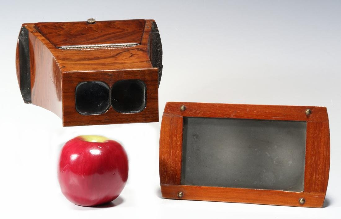 TWO GOOD 19TH CENTURY BREWSTER TYPE STEREOSCOPES - 2