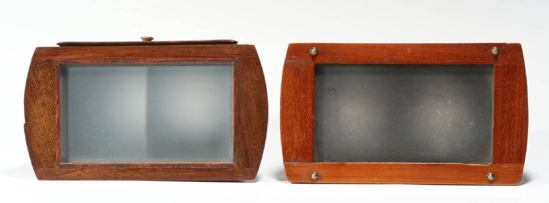 TWO GOOD 19TH CENTURY BREWSTER TYPE STEREOSCOPES - 3