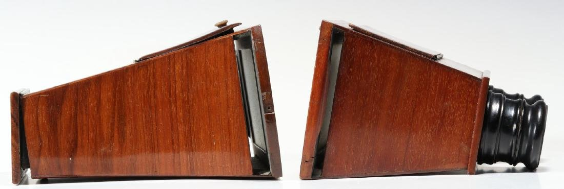 TWO GOOD 19TH CENTURY BREWSTER TYPE STEREOSCOPES - 4