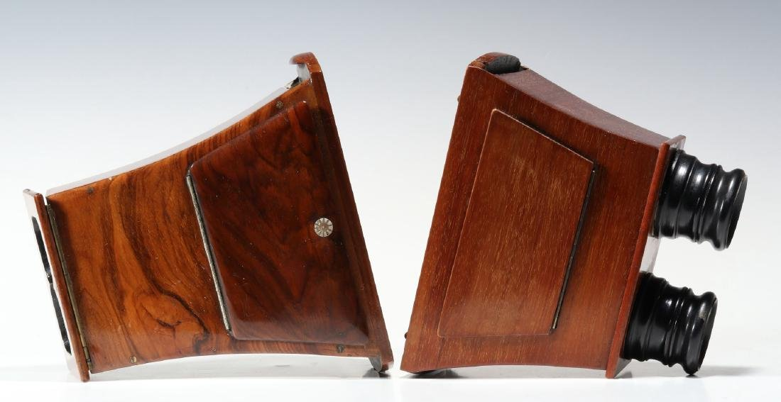 TWO GOOD 19TH CENTURY BREWSTER TYPE STEREOSCOPES - 5