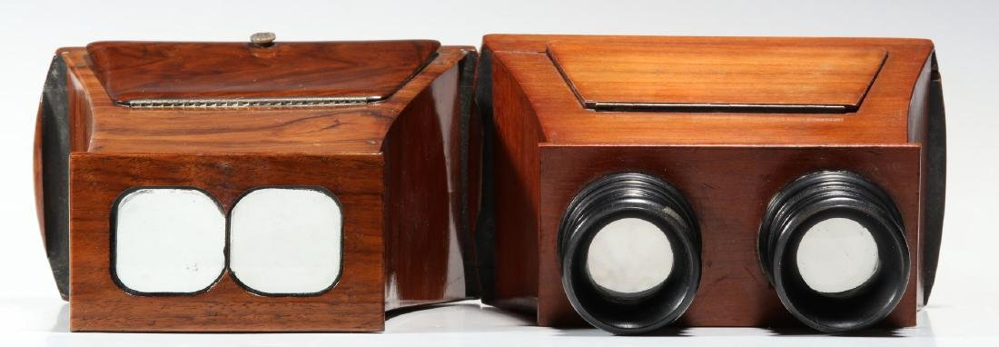 TWO GOOD 19TH CENTURY BREWSTER TYPE STEREOSCOPES - 6