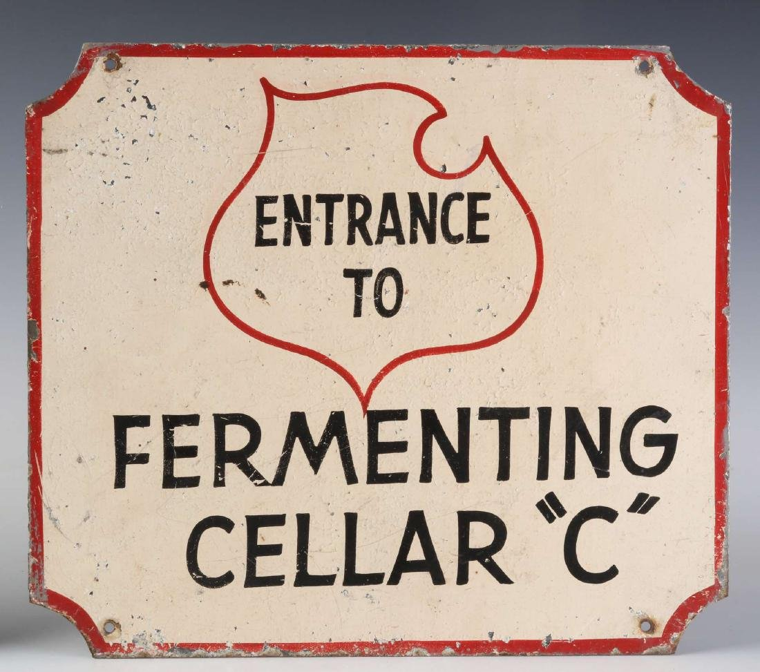 THREE LEMP BEER BREWERY FERMENTING CELLAR SIGNS - 5