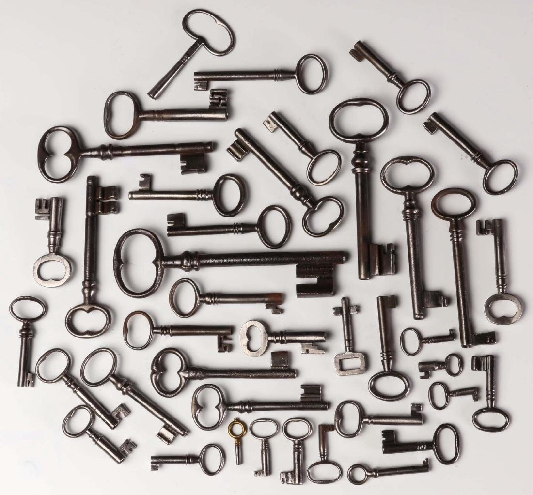 FORTY MISCELLANEOUS 19TH CENTURY KEYS