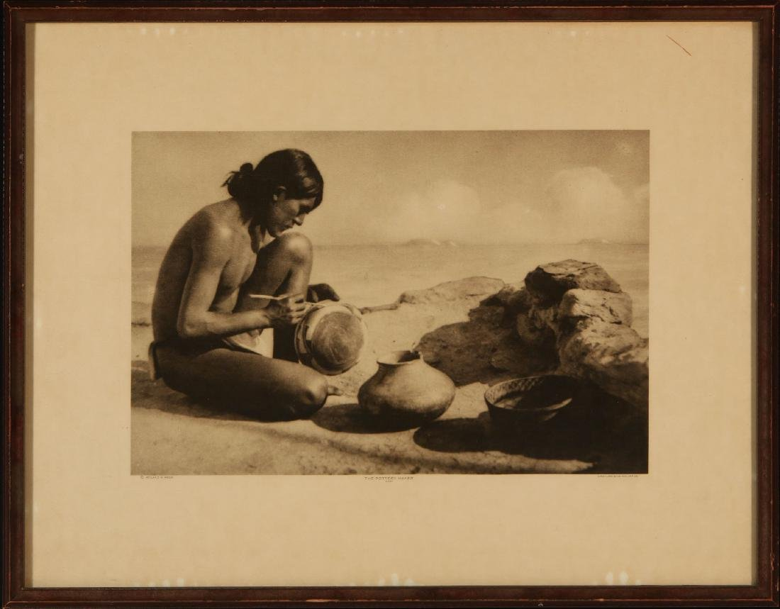 ROLAND W. REED PHOTOGRAVURE: HOPI POTTERY MAKER - 2