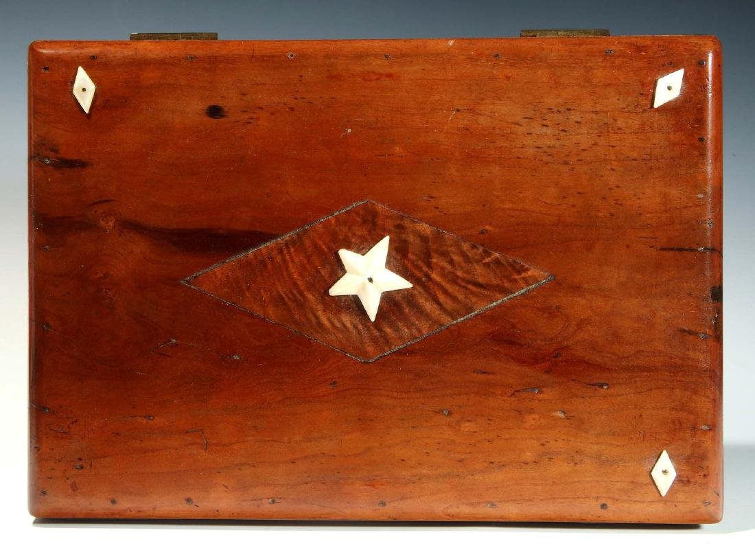 A 19TH C. SAILOR-MADE BOX WITH MARINE IVORY DECORATION - 4